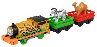 Mašinka Tomáš TrackMaster Motorized Railway Animal Adventure Percy & Train s vagónky
