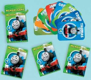 Mašinka Tomáš Party Favours Memory Game - All Aboard (Packs of 6)