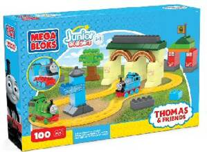 Mašinka Tomáš Mega Bloks Junior Builders Thomas at Tidmouth Sheds